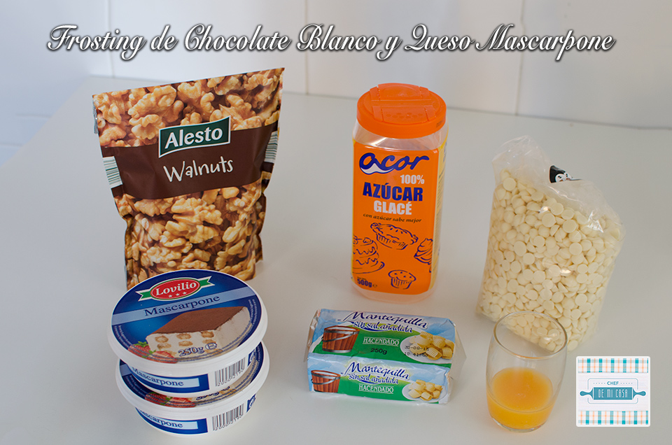 Ingredientes Frosting de Chocolate Blanco