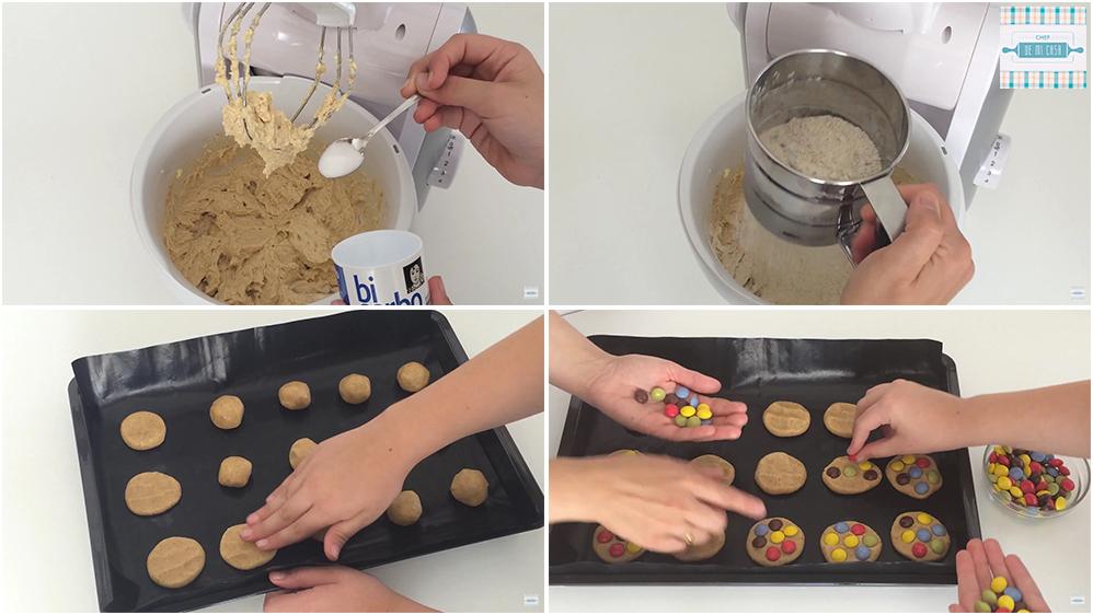 Como hacer galletas integrales con lacasitos