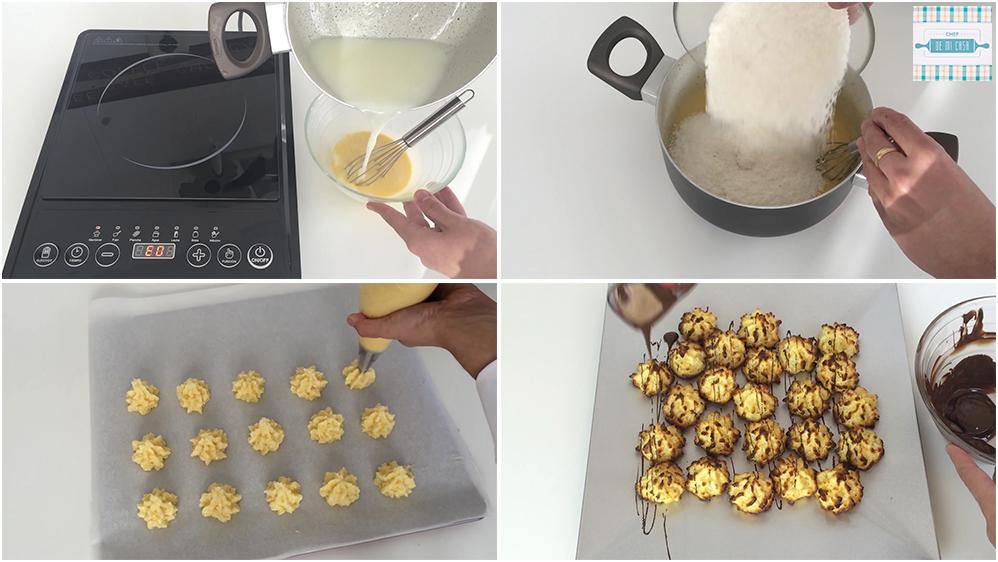Receta de coquitos con crema pastelera