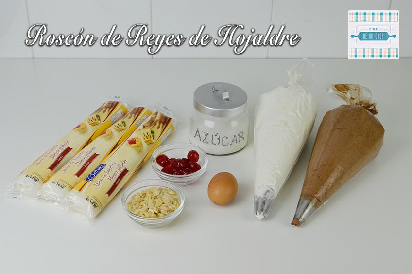 Ingredientes de la Receta de Roscon de Reyes de Hojaldre