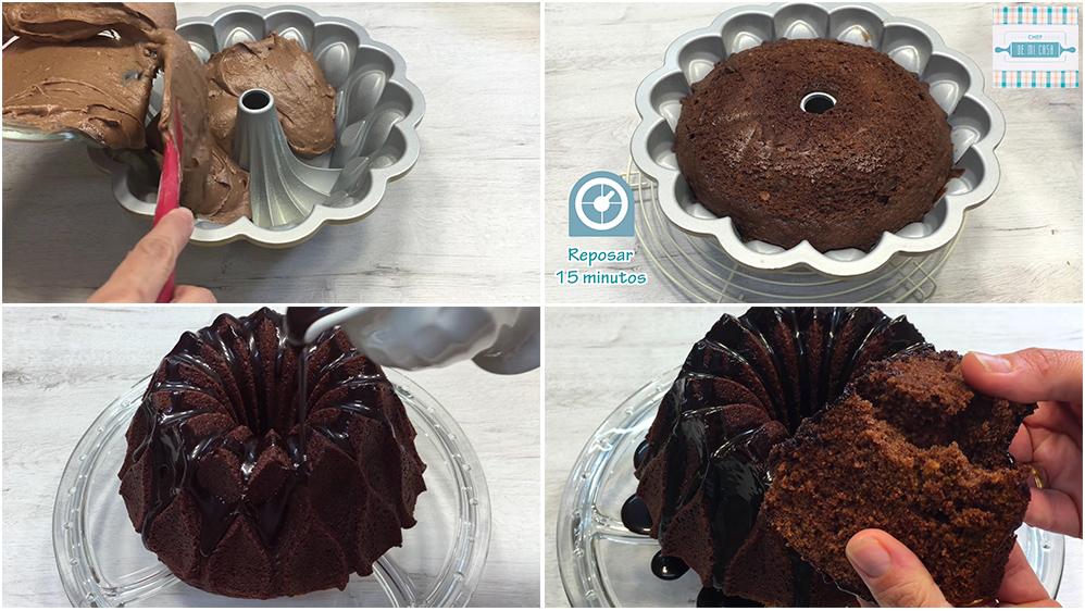 Receta de Bundt Cake de Chocolate paso a paso 2