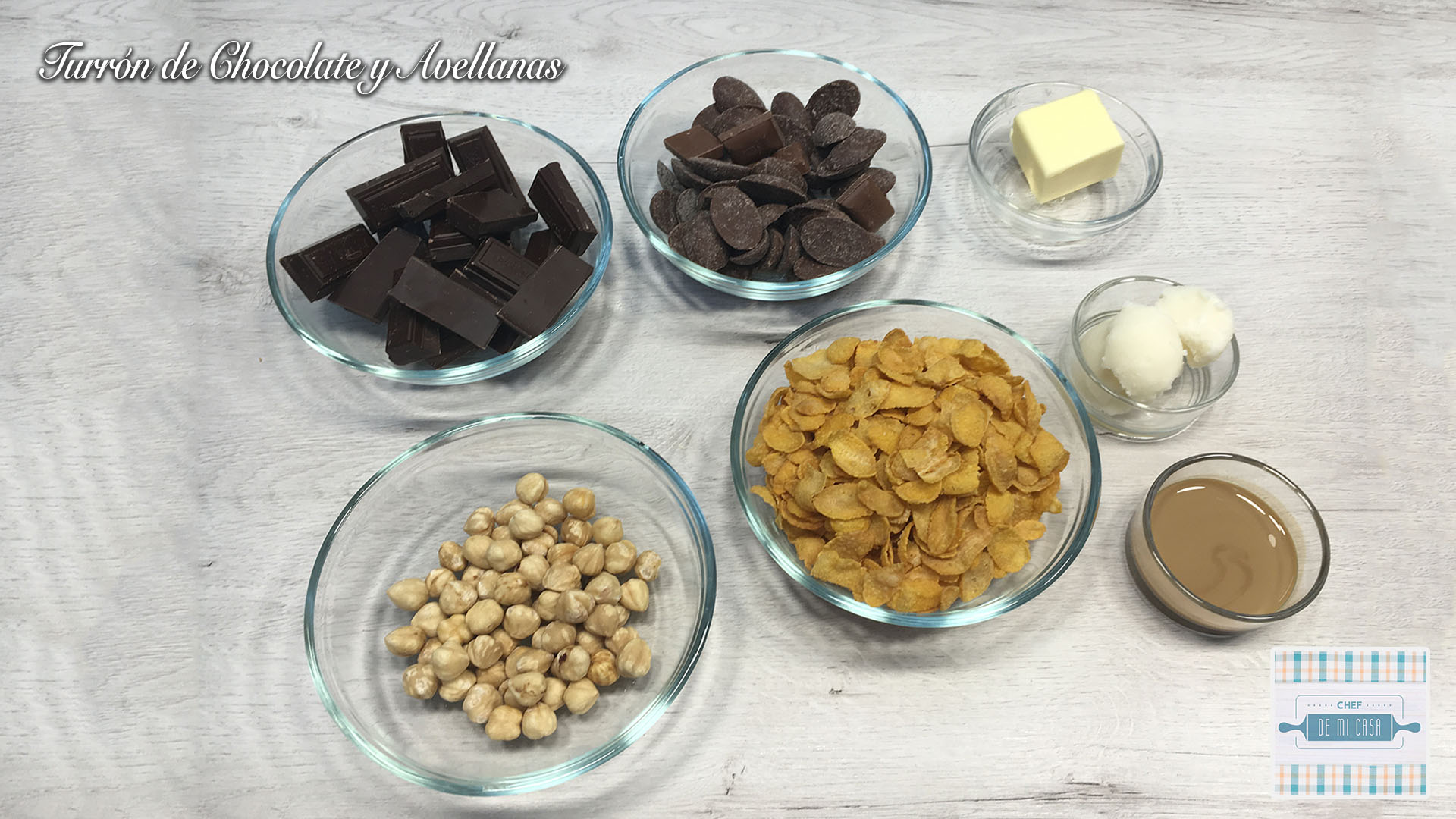 Ingredientes Turrón de Chocolate y Avellanas