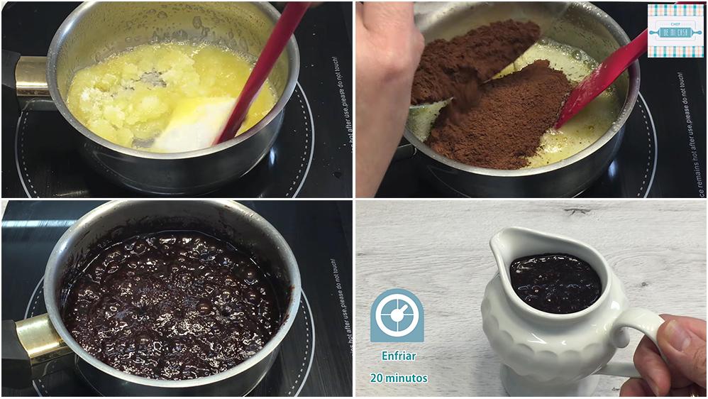 Receta de Salsa de Chocolate paso a paso