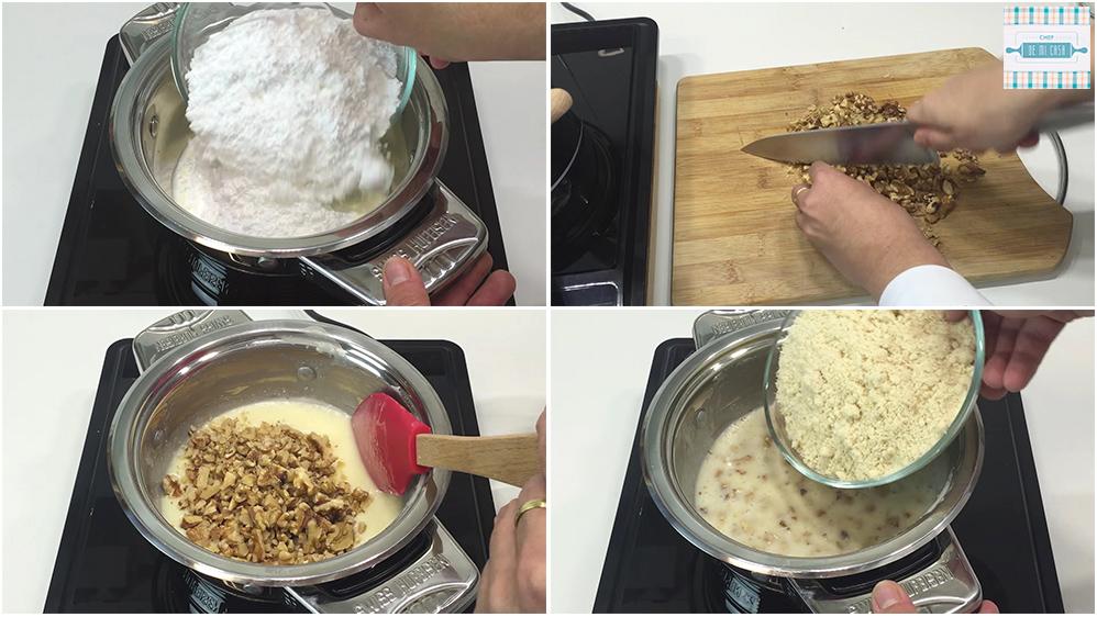 Receta de Turron de Chocolate, Nata y Nueces paso a paso 1